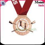La venta caliente a presión las medallas de oro de la fundición 3D con pulido con chorro de arena (MTMD006)
