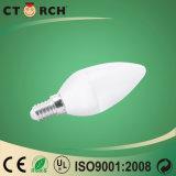 Ctorch 2017 SMDのプラスチックアルミニウム蝋燭の電球5W