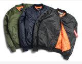 冬の季節の100%年のポリエステルTwill/PUコーティングのボマージャケット