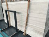 Brame de marbre Polished des graines blanches en bois blanches de Petrifide