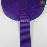 correas de nylon planas púrpuras de 25m m para el collar de perro y el correo