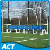 Gegalvaniseerde Dugout van het Voetbal van het Frame van het Staal Mobiele voor de Openlucht, Draagbare Schuilplaatsen van het Team van de Voetbal voor Spelers