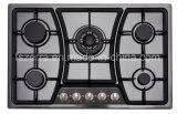 Küche Glassic schwarzer eingebauter Roheisen-Gas-Kocher Jzs75001b