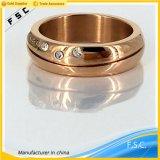 De recentste Eenvoudige Juwelen van het Roestvrij staal van het Ontwerp Dame Fashion Ring