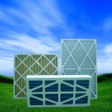 Luftfilter-Reihe vor Filter und Beutelfilter