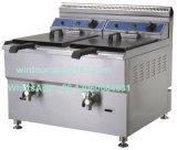 Friteuse commerciale profonde de gaz d'acier inoxydable de matériel de cuisine de qualité