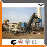 Planta de procesamiento por lotes por lotes concreta móvil automática del bajo costo 35 M3/H
