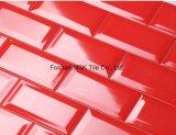 "3X6 "" Red Gloss Bevelled Glazed Subway Ceramic Strips"