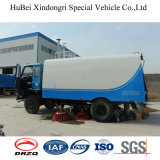 caminhão Euro4 do líquido de limpeza da vassoura de estrada do vácuo de 6cbm Dongfeng