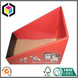 Matt Red Color Print Carton Display Carton Bin pour Supermarché