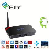 Contenitore 2.4G+5g WiFi di caramella gommosa e molle 4k 60fps TV del Android 6.0 della casella 2g/16g di memoria TV di X92 Pendoo Amlogic S912 Octa