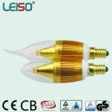パテント5Wのクリー族チップScob E14 LEDの蝋燭の球根(LS-B305-GB)