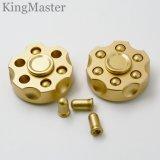 Giradores da mão do metal do ouro do projeto do suporte da bala