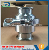"""1 """" 25.4mm 316L Klep van de Controle van de Lente van de Klem van het Roestvrij staal de Sanitaire"""