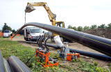 Tubo de polietileno de alta densidade (PE) para fornecimento de gás