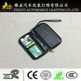 Черный случай мобильного телефона бумажника с владельца карточки