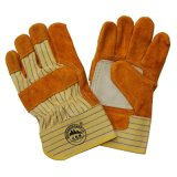 Gants fonctionnants industriels résistants de coupure protectrice de main de paume de Doubl