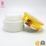 vaso di vetro 30g con la protezione gialla dal fornitore cosmetico della bottiglia di vetro