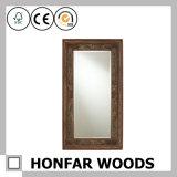 Bâti en bois décoratif blanc classique de miroir pour la salle de bains