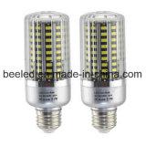 A luz E26 20W do milho do diodo emissor de luz refrigera a lâmpada de prata branca do bulbo do diodo emissor de luz do corpo da cor