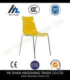 Стул стога емкости Hzpc025 белый с рамкой поясничной поддержки и серебра