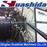 Chaîne de production renforcée par acier de pipe de spirale de HDPE