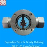 Indicador de cristal del flujo de la succión doble de la ventana con la rueda de paleta