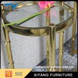 Mesa de diseño de lujo del oro de Rose del acero inoxidable