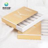 Шикарное серебряное штемпелюя печатание коробки бумаги упаковывая (для меток)