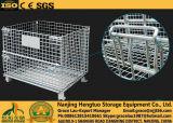 Folding Stahlmaschendraht-Palettencontainer für Warehouse Lager