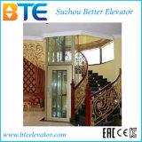 Ascenseur panoramique de villa d'observation avec structure d'arbre