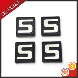 Contrassegno di gomma del nuovo di marca di disegno di numero nero della lettera per lo zaino