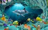 tuile Polished de porcelaine du monde de la mer 3D pour le matériau de construction (VPA6A108)