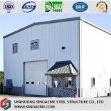 Construcción prefabricada del marco de acero para el taller con experiencia rica