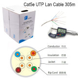 Cable de la red de cable del LAN de UTP Cat5e
