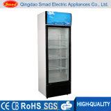 Vitrina comercial de porta de vidro Display de congelador Showcase