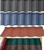 Tuile de toit en acier enduite en pierre/tuile de toiture enduite en métal de sable