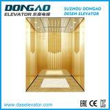 Specchio di titanio di alta qualità che incide il piccolo ascensore per persone della stanza della macchina con l'azionamento di Vvvf