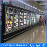 - 18から-22程度の冷凍食品のための縦のMultideckのガラスドアのフリーザー