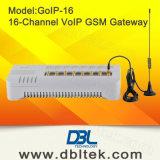 16-kanaal GSM van VoIP de Gateway van het SLOKJE van de Gateway met Verandering IMEI (goIP-16)