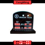 Segno di limite di scommessa limitato LED della Tabella della mazza del segno della Tabella del casinò della tigre del drago per i giochi Ym-LC05 della Tabella del black jack del randello della mazza