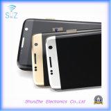 L'affichage à cristaux liquides pour le bord de Samsung S7 manifeste le téléphone cellulaire intelligent d'écran tactile