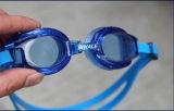 O silicone macio ajustável caçoa óculos de proteção da natação