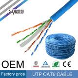 Кабель LAN локальных сетей CAT6 кабеля кота 6 цены по прейскуранту завода-изготовителя UTP Sipu
