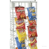 Loja de varejo Metal Batata Chip Snack Storage Display Stand Rack