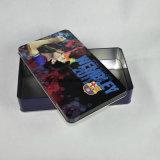 カスタムRetangularのゲームの錫ボックス、ゲームカードの錫ボックス