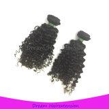 Onde bouclée crépue de couleur de cheveu mongol de bonne qualité durable normal de Vierge