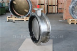 CF8 CF8m Roestvrij staal Flanged Butterlfy Valve met Ce ISO Wras Approbed (CBF01-TF01)
