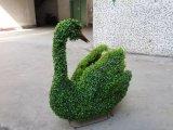 Figurine dos animais da alta qualidade com escultura artificial da planta