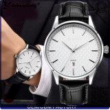 Dos homens de venda barato melhores do pulso de quartzo da forma Yxl-447 2016 a tâmara de calendário do couro genuíno do relógio presta atenção a homens